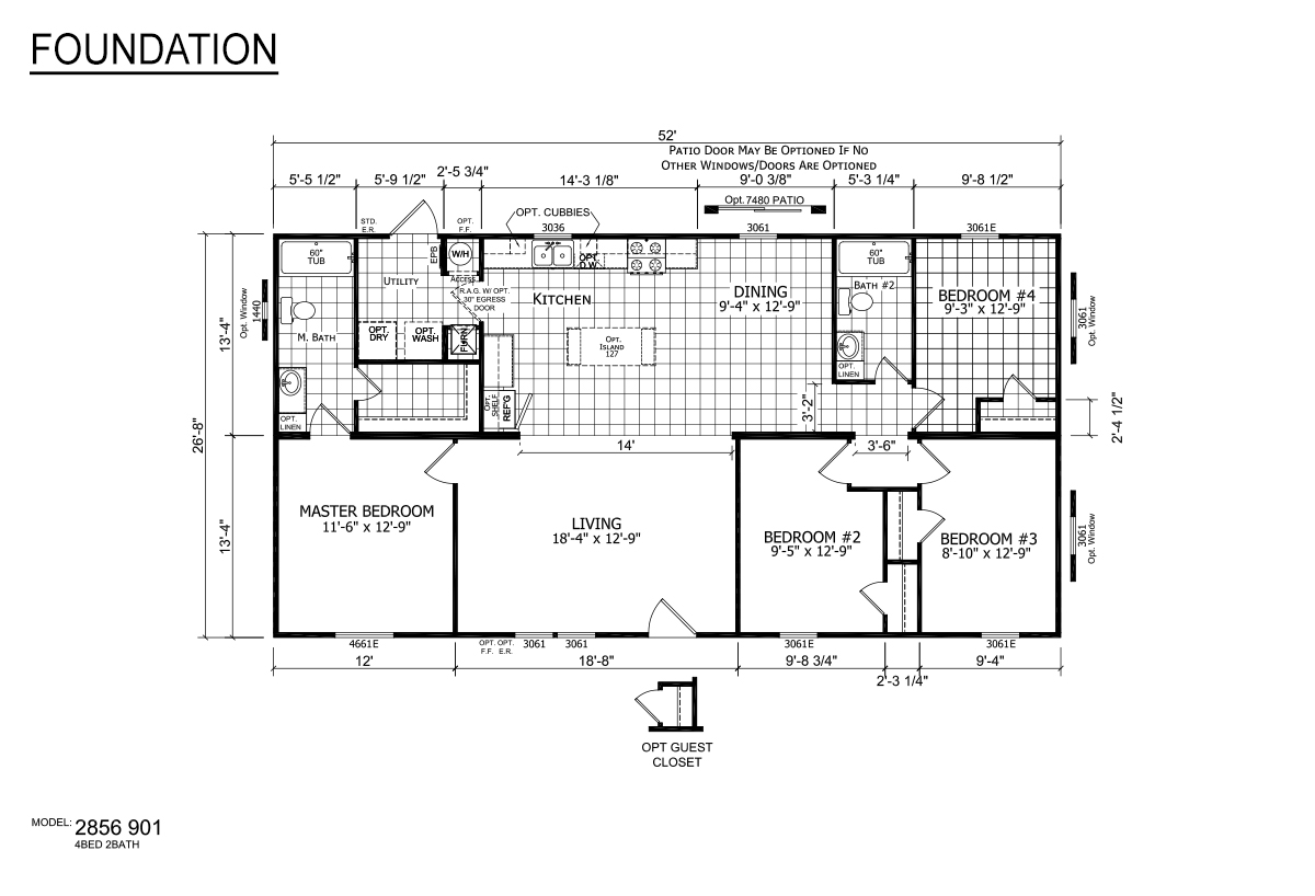 Foundation Sectional 2856-901 Layout