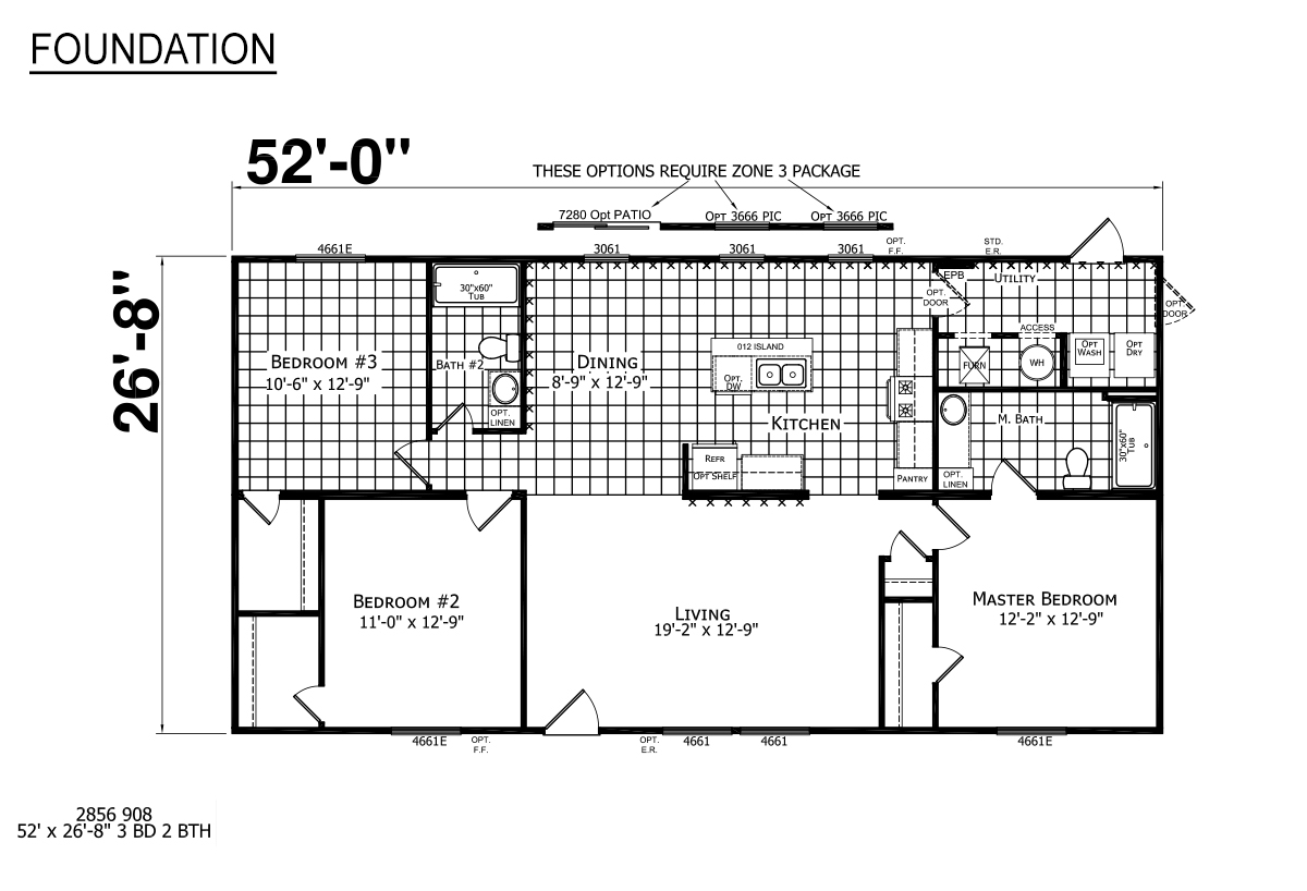 Foundation Sectional 2856-908 Layout