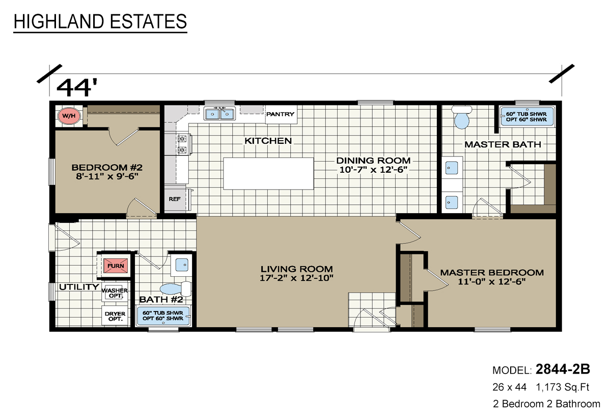 Highland Estates 2844-2B Layout