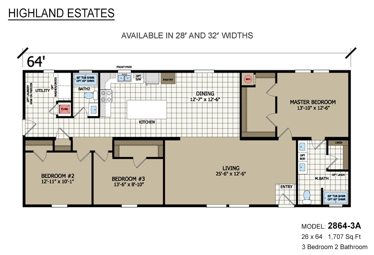 Highland Estates 2864-3A Layout