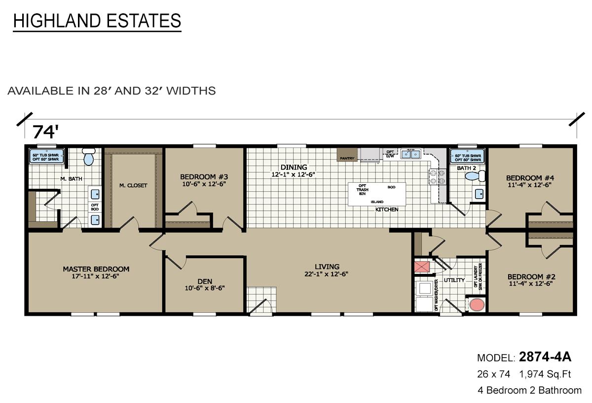 Highland Estates 2874-4A Layout