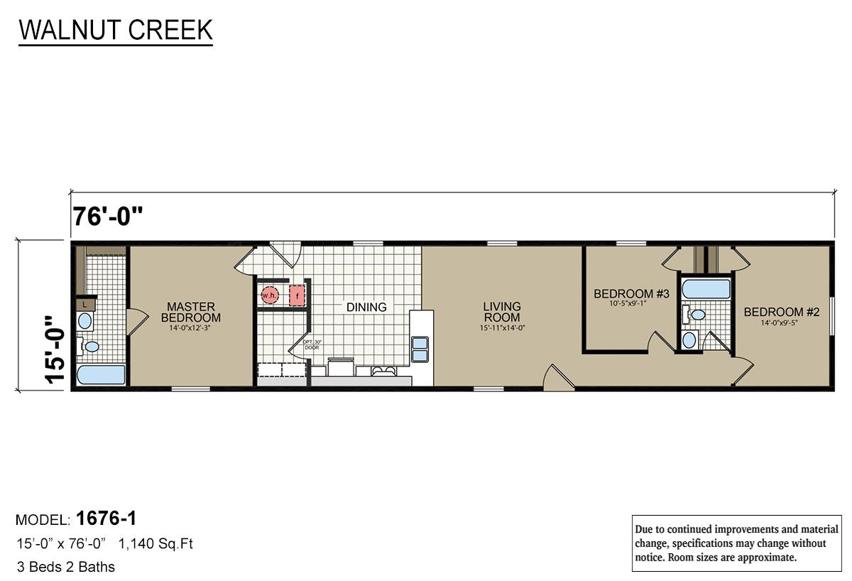 Walnut Creek 1676-1 Layout