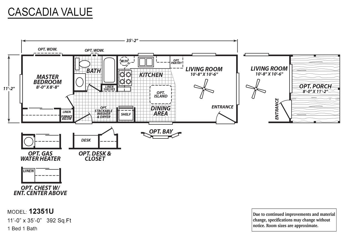 Cascadia Value 12351U Layout