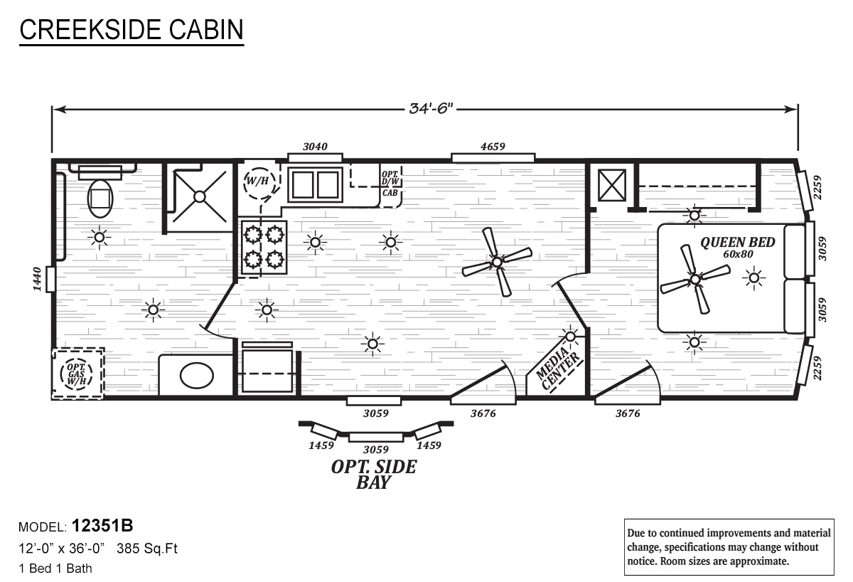 Creekside Cabin - 12351B
