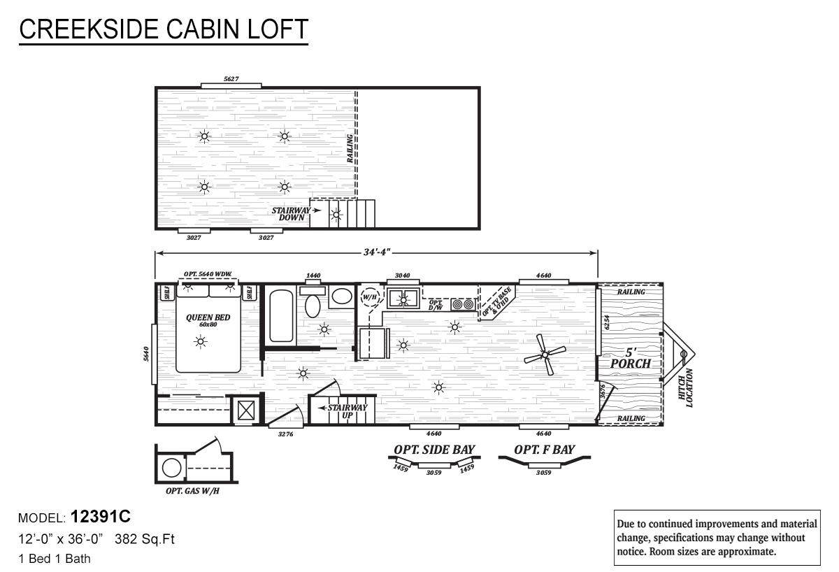 Creekside Cabin Loft - 12391C