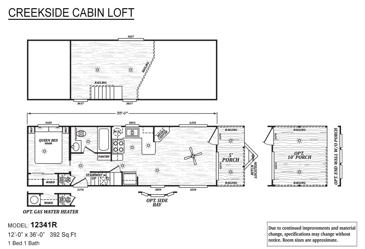 Creekside Cabin Loft - 12341R