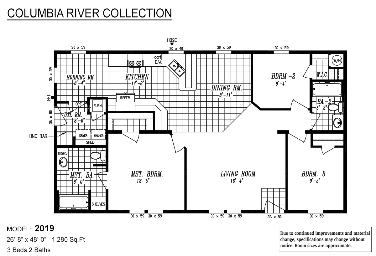 Columbia River Collection Multi-Section 2019 Layout