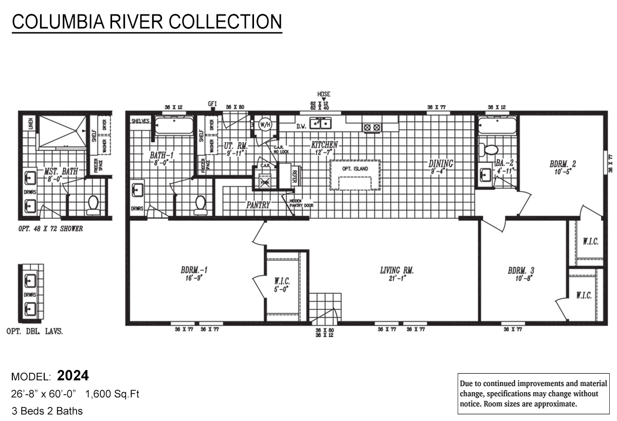 Columbia River Collection Multi-Section 2024 Layout