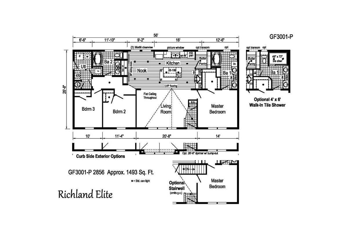 Richland Elite Ranch GF3001-P Layout