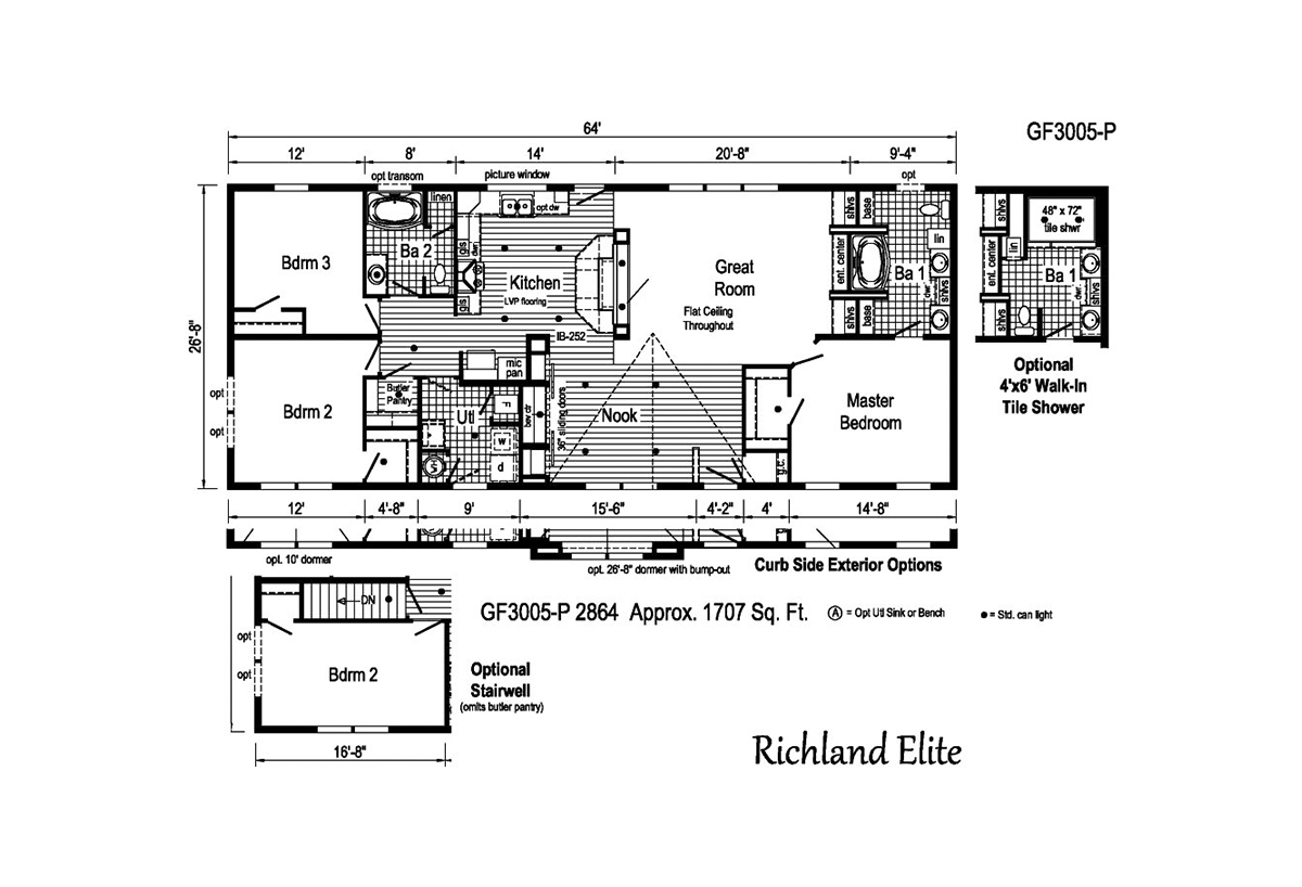 Richland Elite Ranch GF3005-P Layout