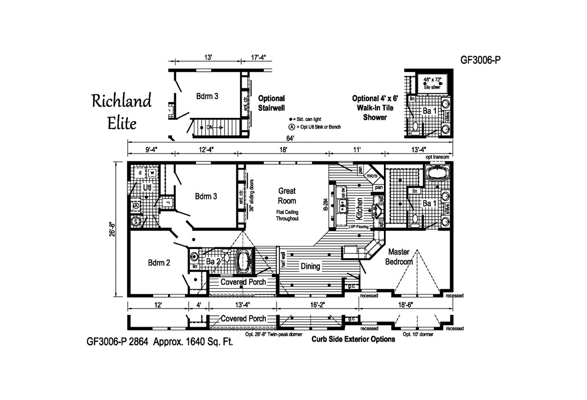 Richland Elite Ranch GF3006-P Layout