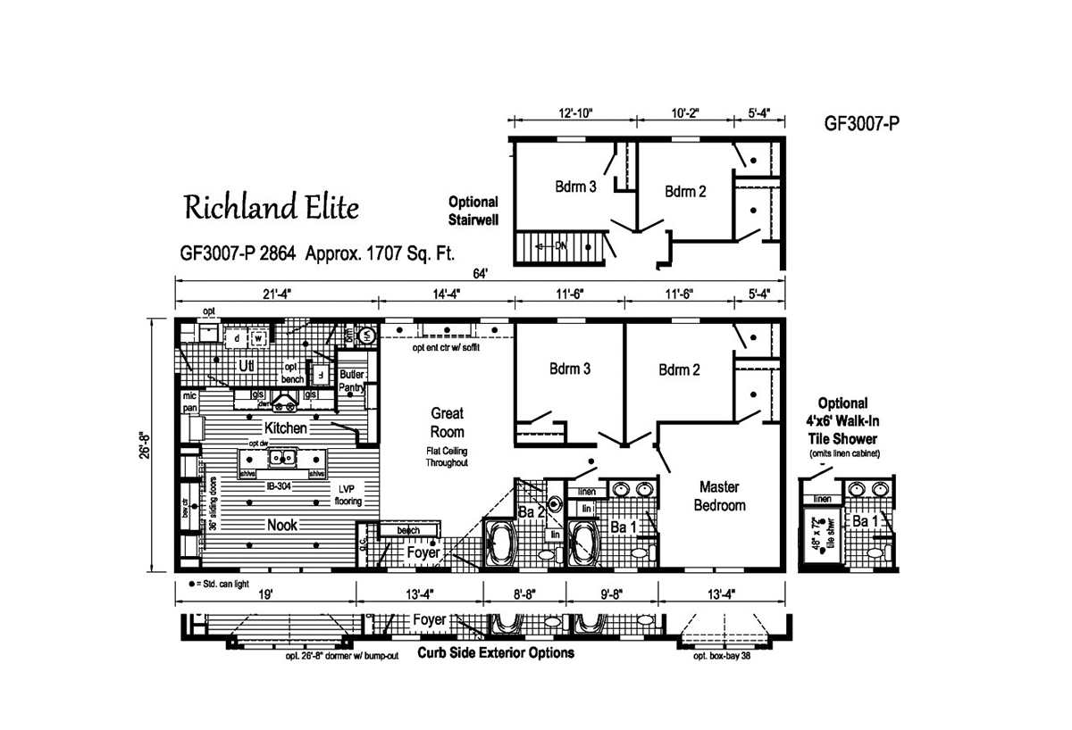 Richland Elite Ranch GF3007-P Layout