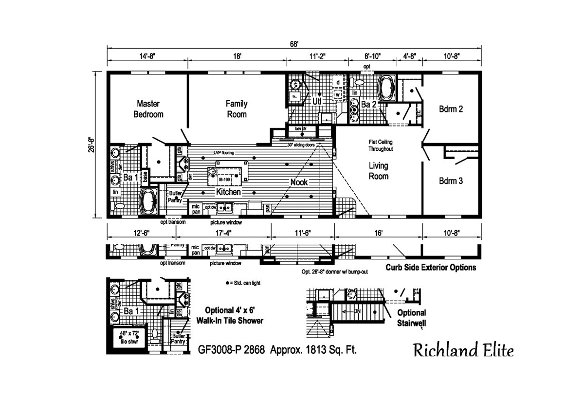 Richland Elite Ranch GF3008-P Layout