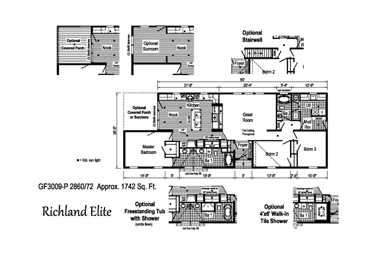 Richland Elite Ranch GF3009-P Layout