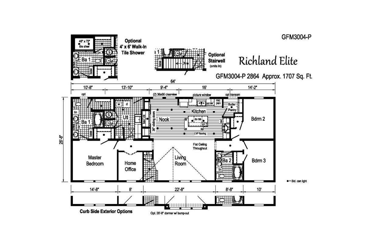 Richland Elite Ranch GFM3004-P Layout