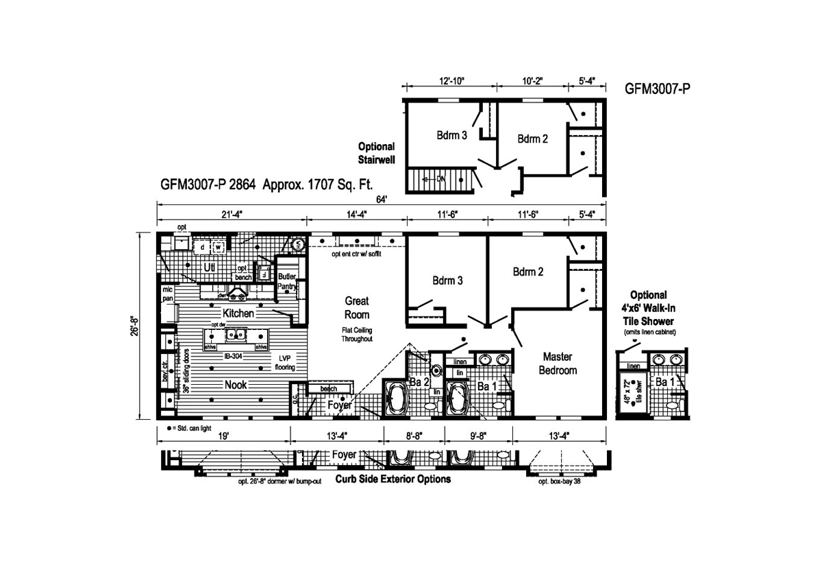 Richland Elite Ranch GFM3007-P Layout