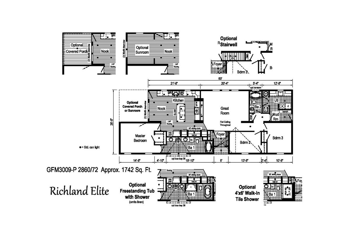 Richland Elite Ranch GFM3009-P Layout