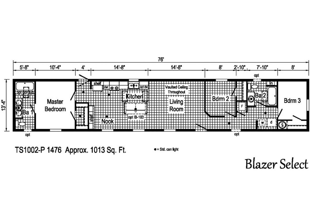 Blazer Select TS1002-P Layout
