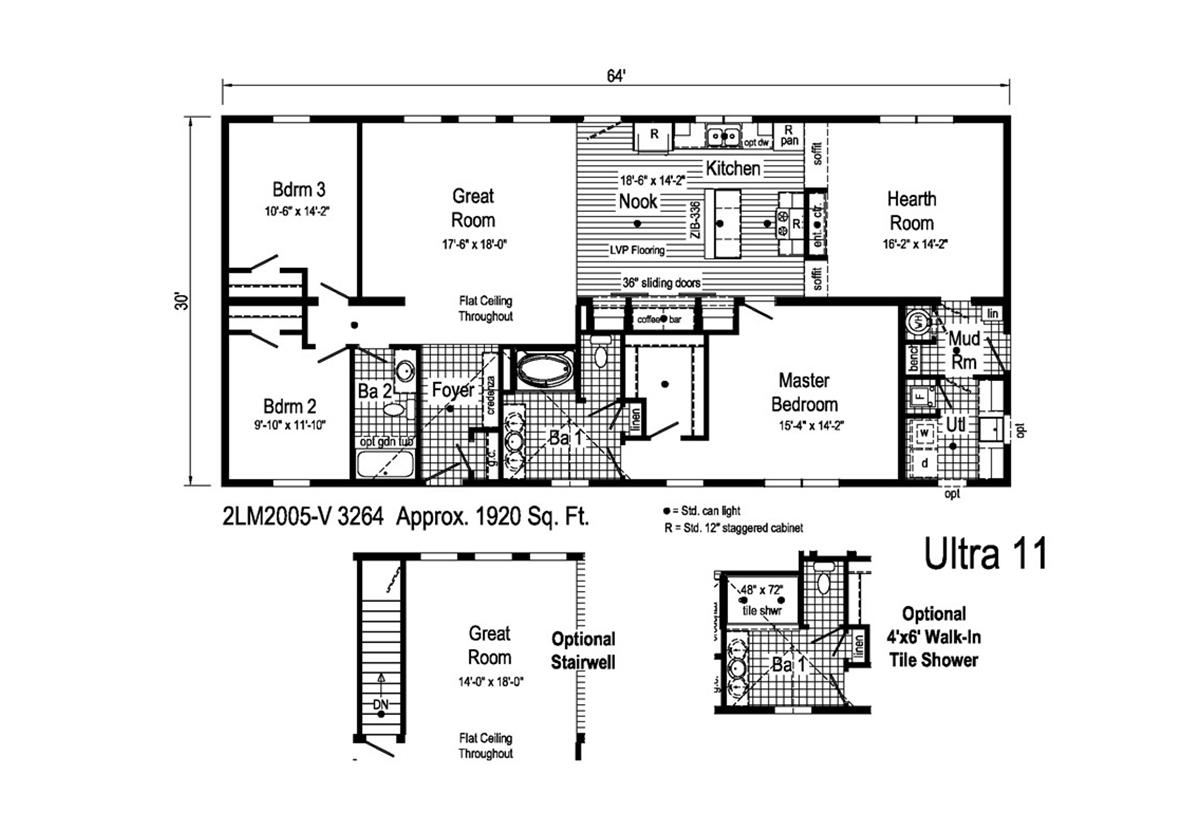 Landmark Ultra 11 - 2LM2005V Layout
