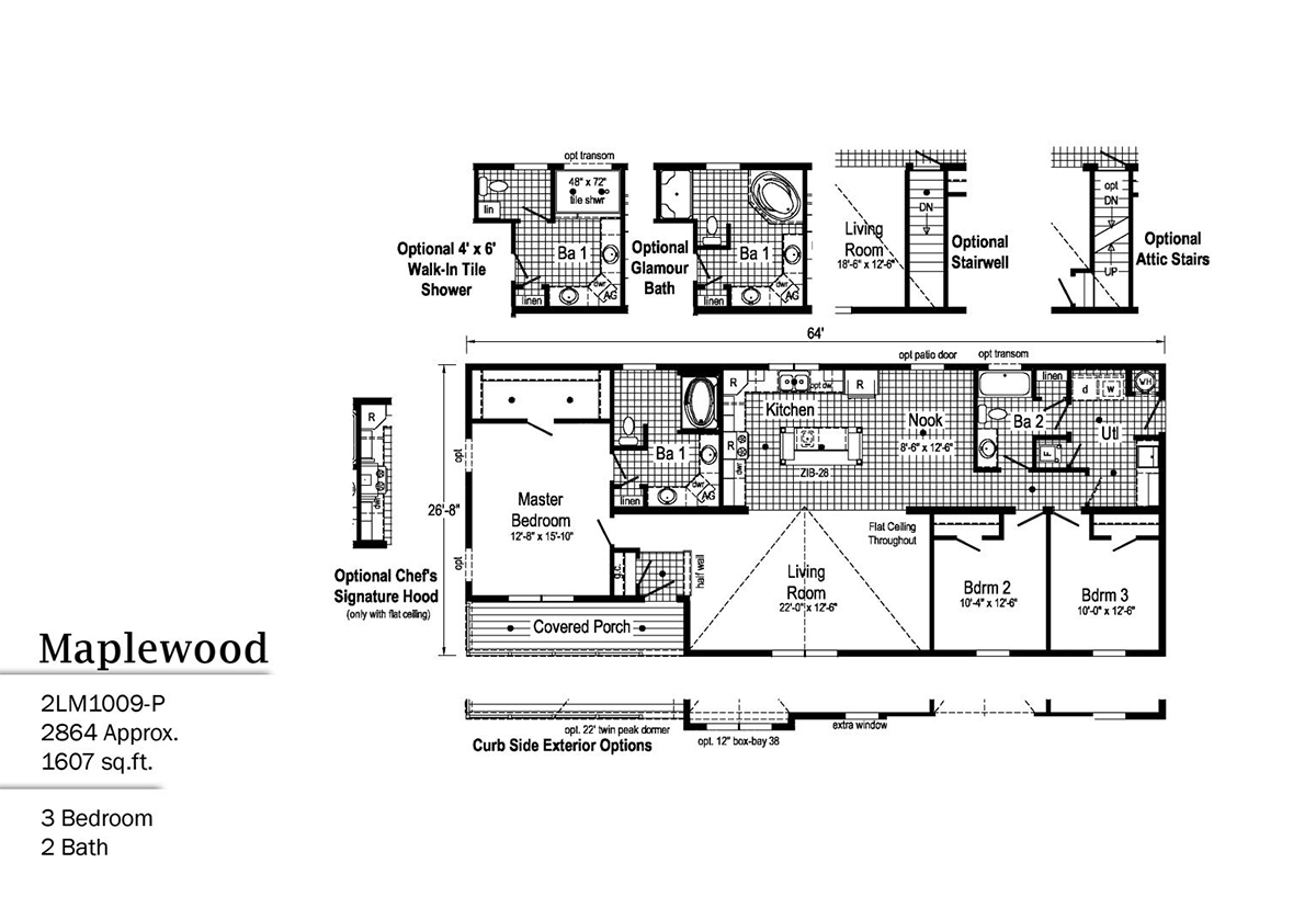 LandMark Maplewood 2LM1009-P Layout