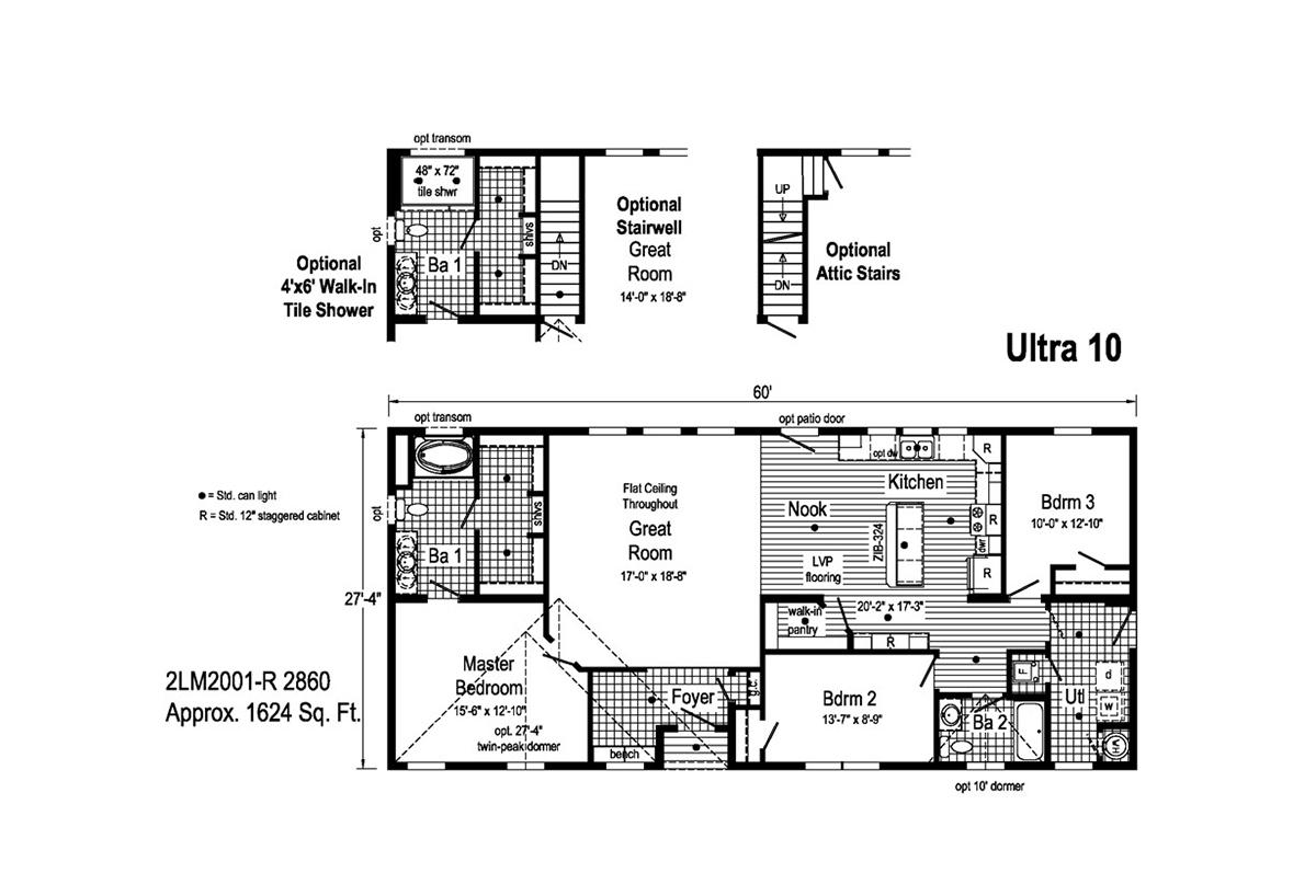 Landmark Ultra 10 - 2LM2001R Layout