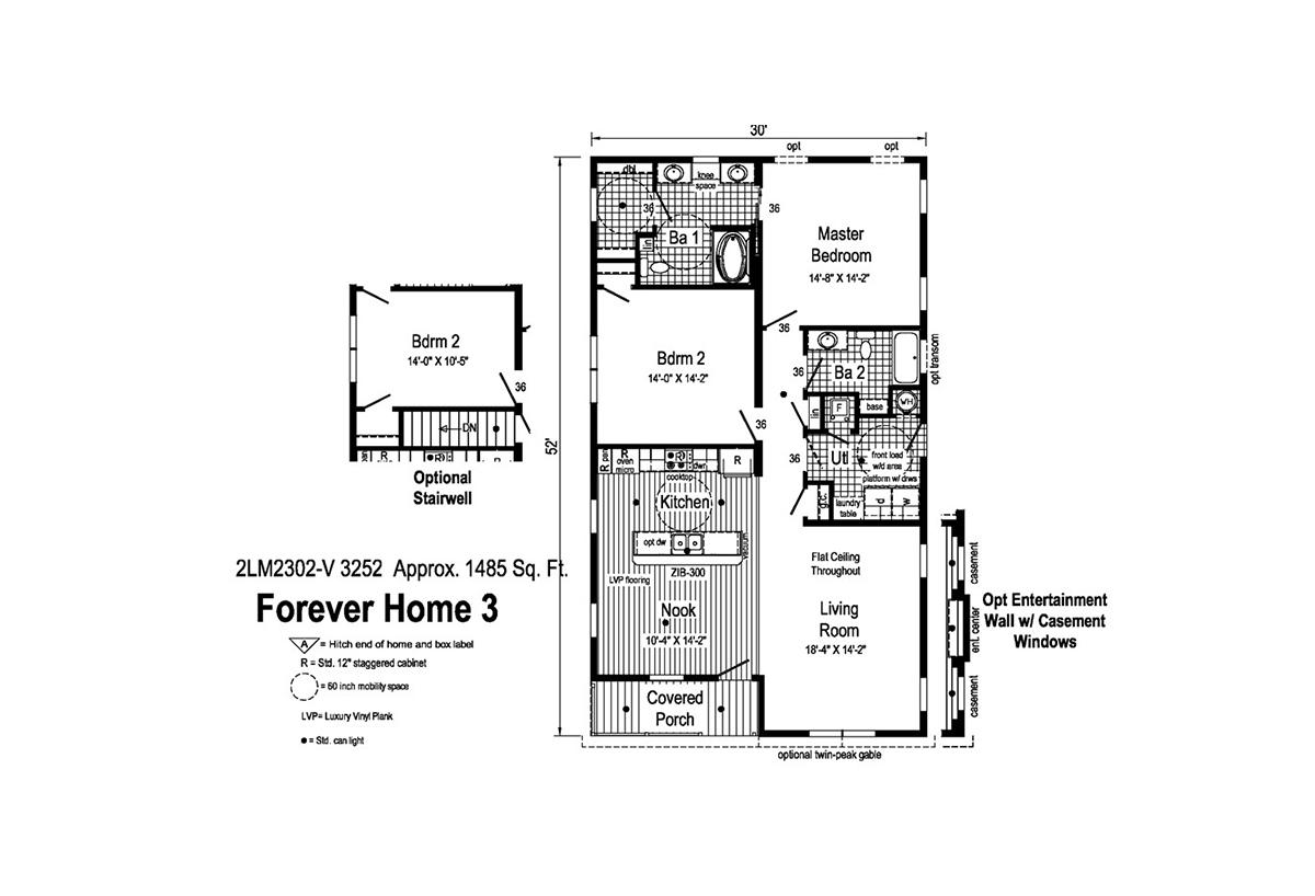 LandMark Forever 3 - 2LM2302V Layout