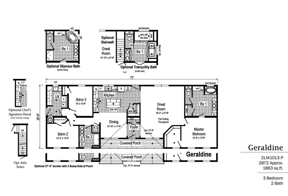 LandMark Geraldine 2LM1013-P Layout