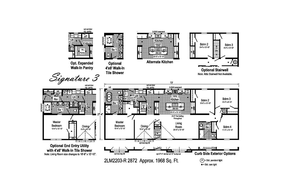 LandMark Signature 3 - 2LM2203R Layout