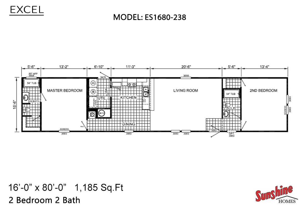 Excel ES1680-238 (NOW 1680-1007) Layout