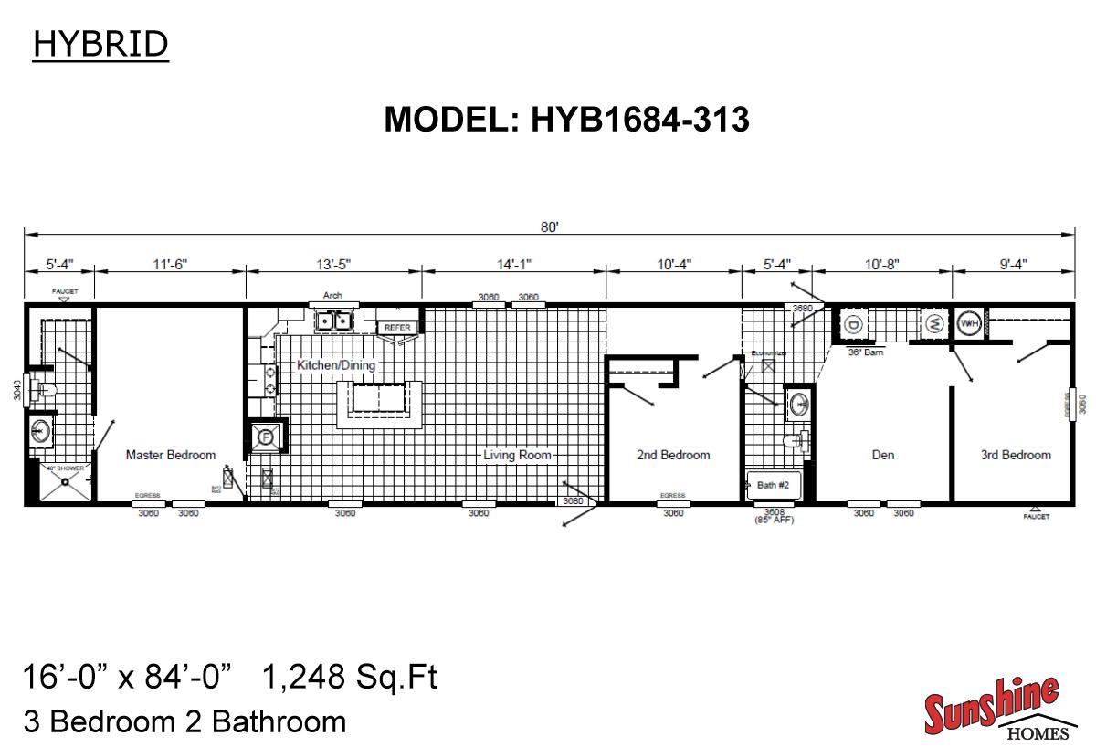 Hybrid HYB1684-313 (NOW 1684-1011) Layout