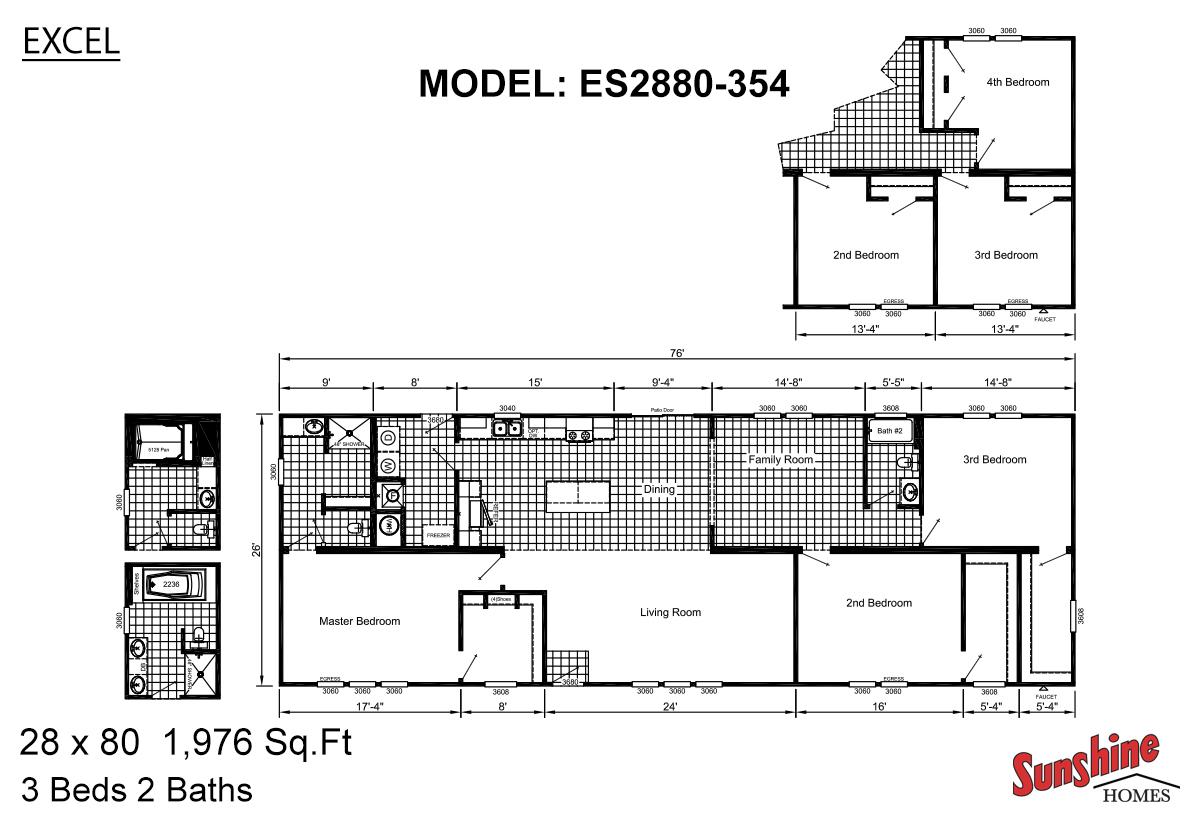 Excel ES2880-354 (NOW 2880-2003 The Mallard) Layout
