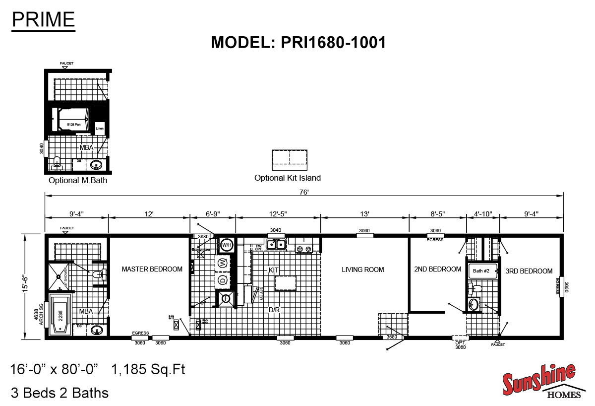 "Prime PRI1680-1001 ""The Pintail"" Layout"