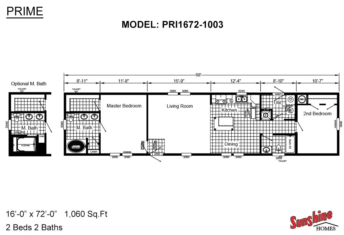 Prime PRI1672-1003 Layout