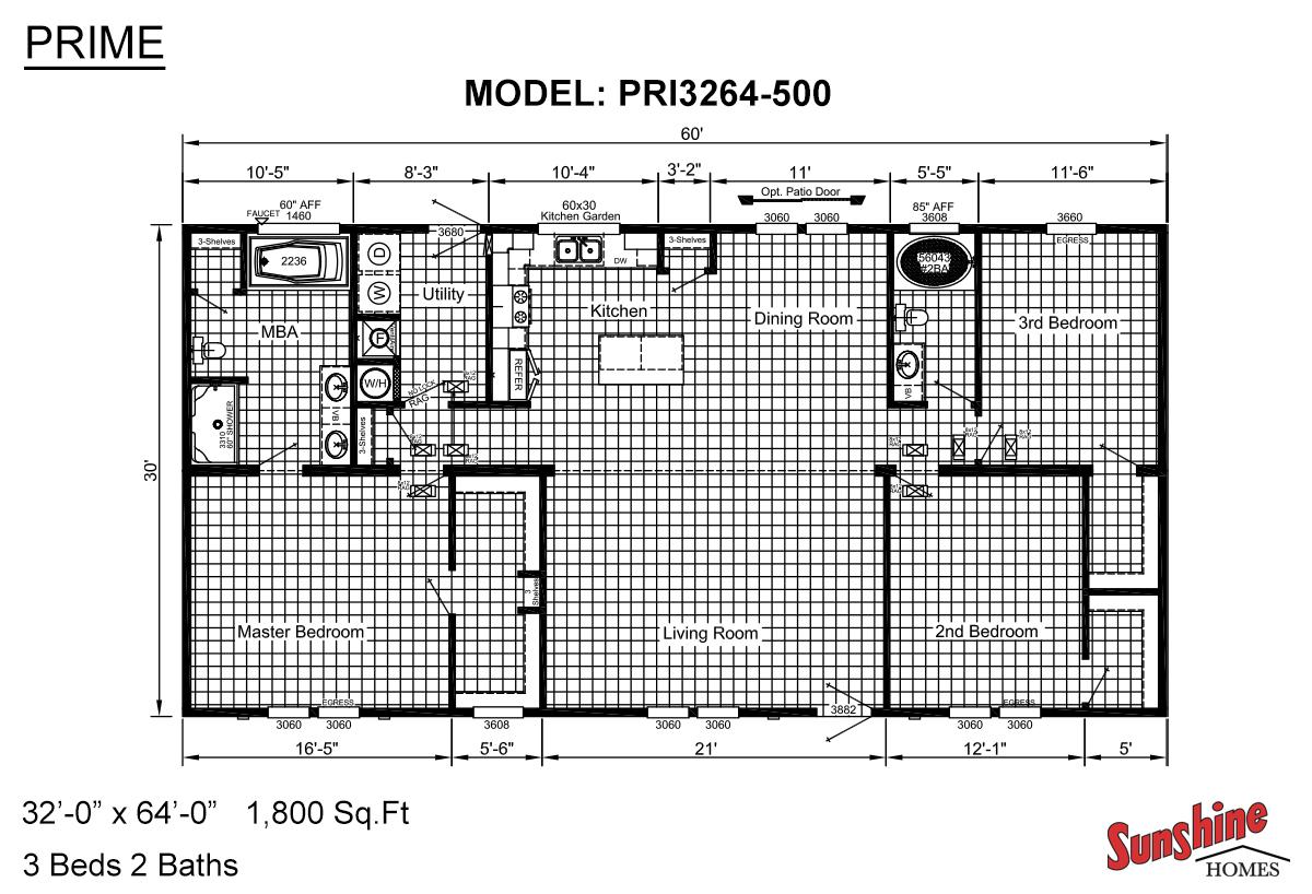 Prime PRI3264-500 Layout