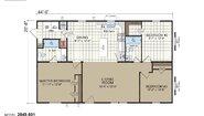Edge II Sectional 2848-901 Layout
