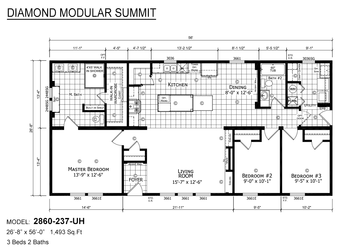 Diamond Modular Summit 2860-237-UH Layout
