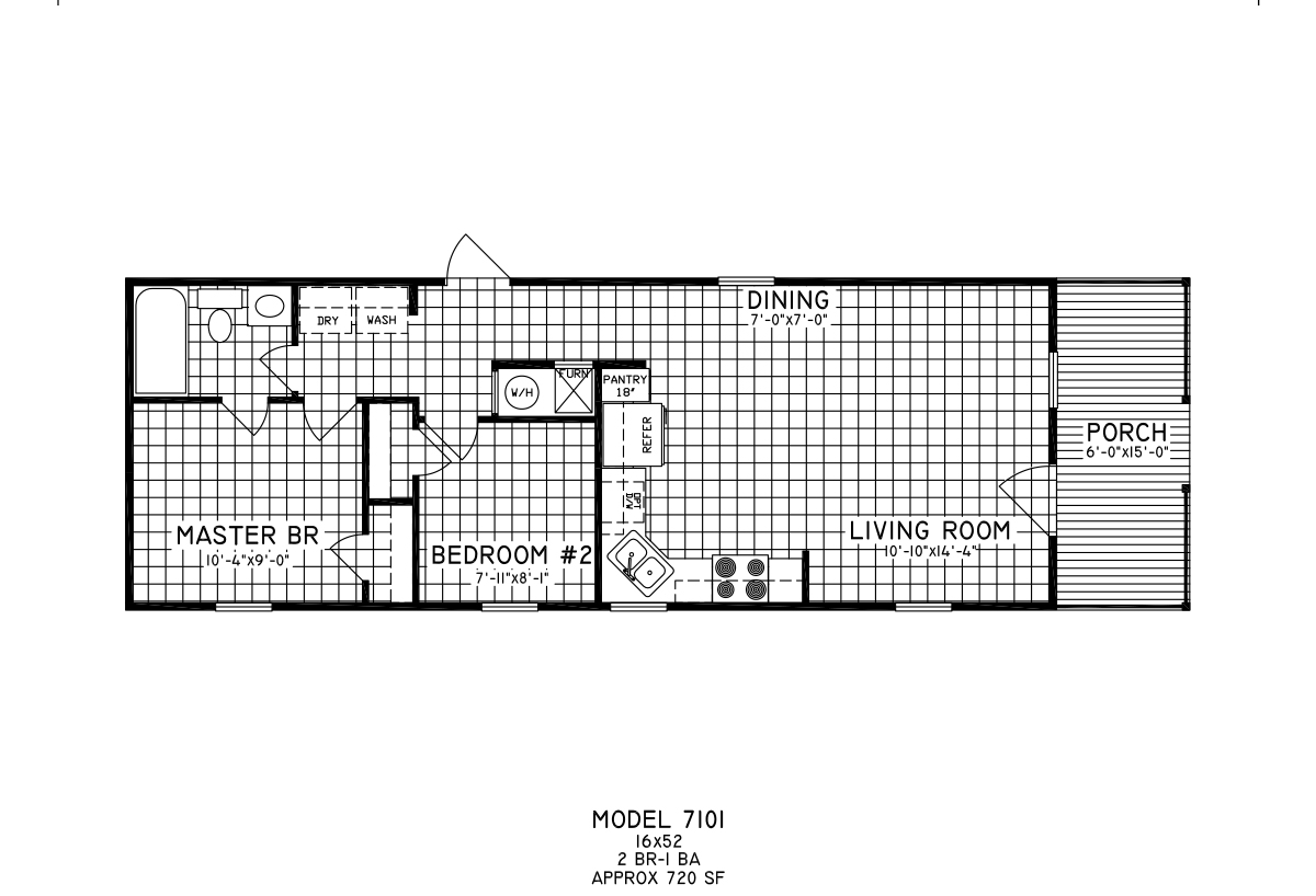 Cottage 7101 Layout