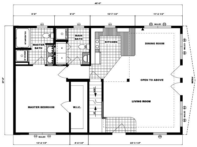 Leisure Lake Ariel Chalet Layout