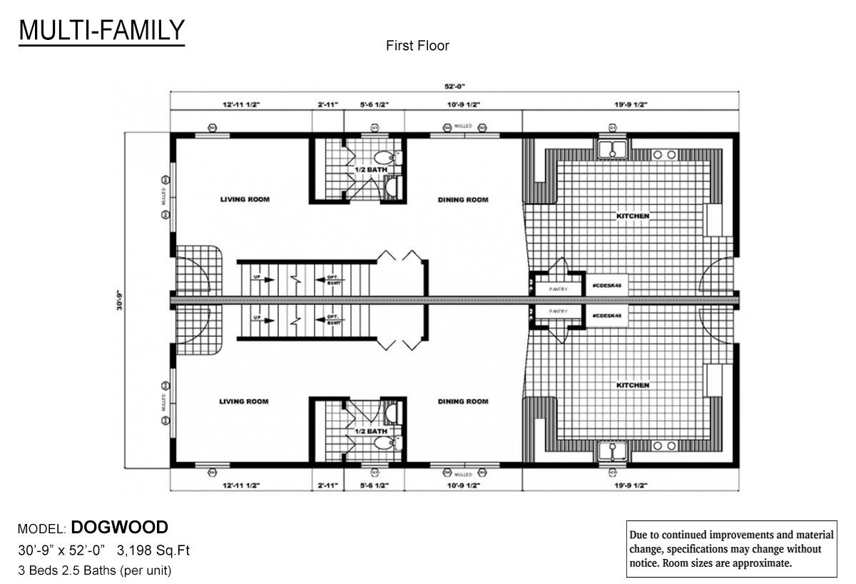 Multi-Family The Dogwood Layout