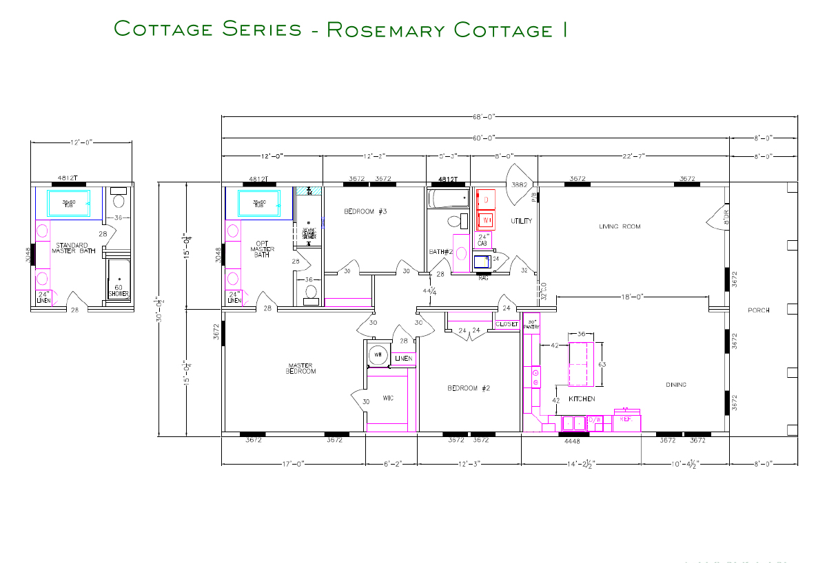 Cottage Series Rosemary I Layout