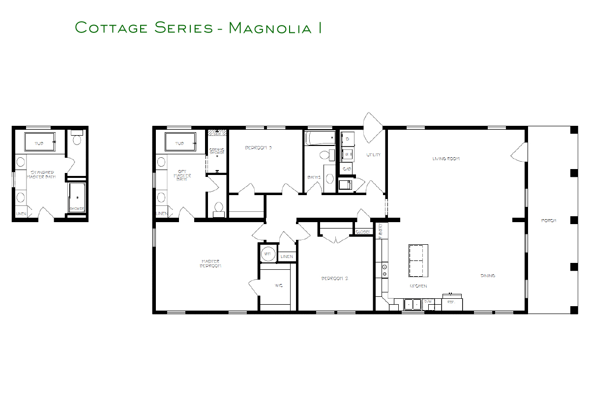 Cottage Series Magnolia I Layout