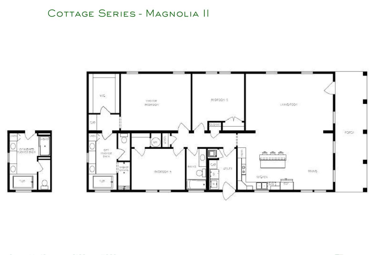 Cottage Series Magnolia II Layout