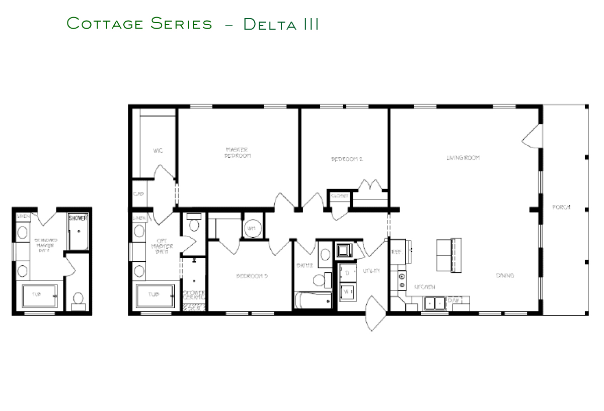 Cottage Series Delta III Layout