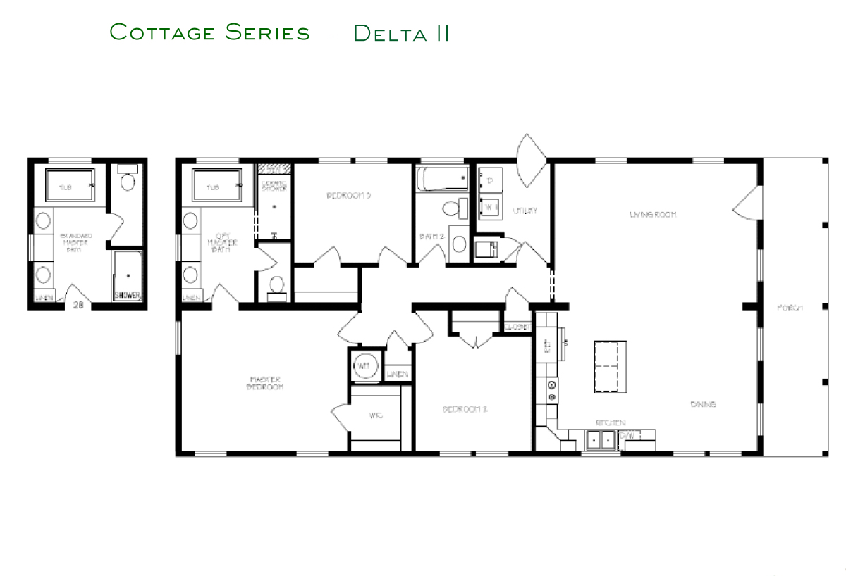 Cottage Series Delta II Layout