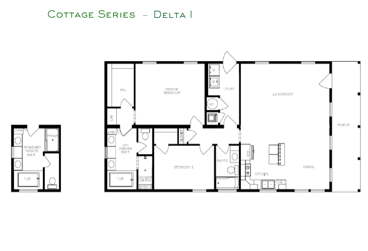 Cottage Series Delta I Layout