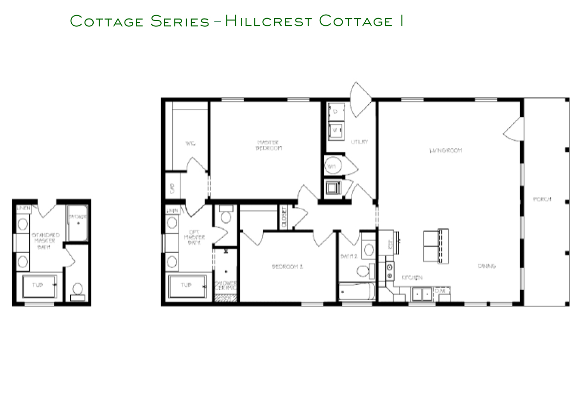 Cottage Series Hillcrest I Layout