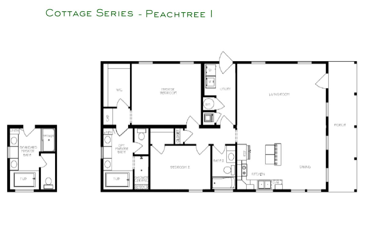 Cottage Series Peachtree I Layout