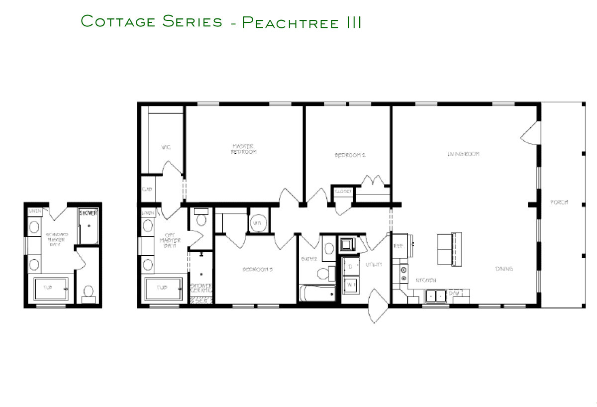 Cottage Series Peachtree III Layout