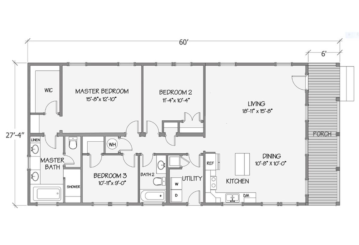 Cottage Series - Tidewater 8018-64-3-30