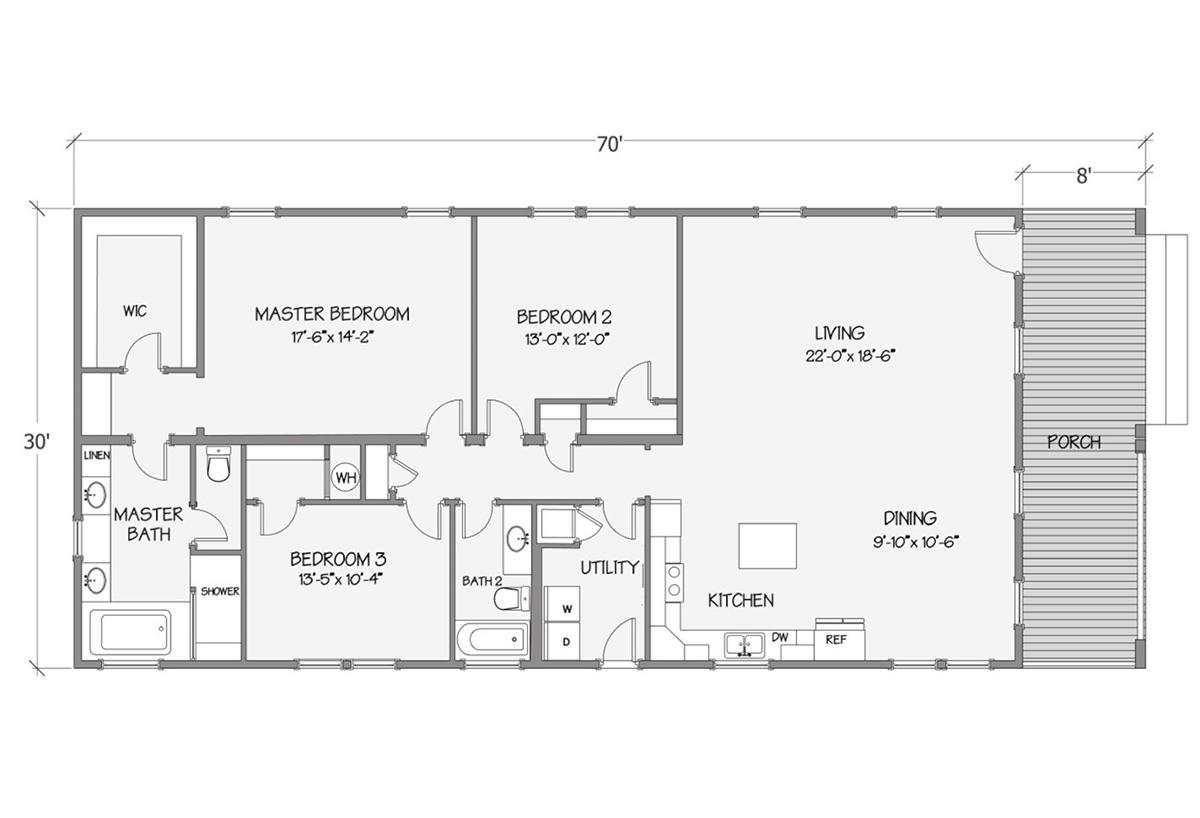Cottage Series - Tidewater 8008-74-3-32